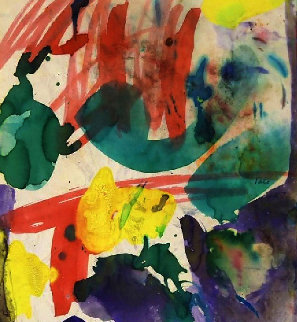 Abstract Composition II 1957 13x13 Works on Paper (not prints) - Taro Yamamoto