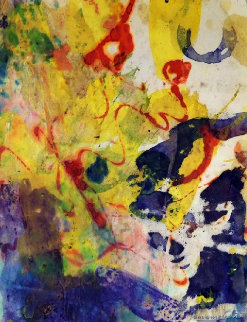 Abstract Composition 1957 17x14 Works on Paper (not prints) - Taro Yamamoto