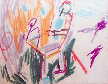 Untitled, 3 Paintings 1953 20x26 Original Painting by Taro Yamamoto