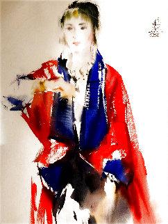 Angel Watercolor 32x26 Watercolor - Chen Yang-Chun