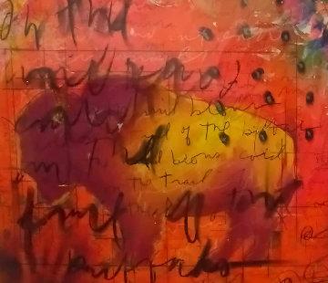 Wind Blows Cold 4 2008 34x53 Original Painting - Tim Yanke