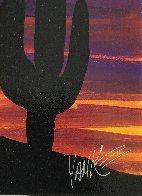 Twilight and Seguaro 2013 16x22 Original Painting by Tim Yanke - 3
