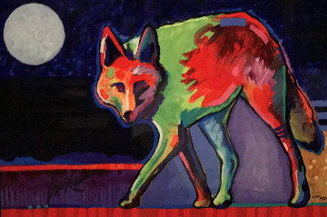 Four Winds Trickster Coyote 2017 Limited Edition Print - Tim Yanke