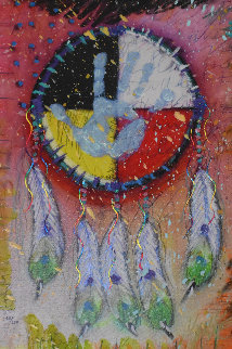 Four Directions 2012 Embellished Limited Edition Print by Tim Yanke
