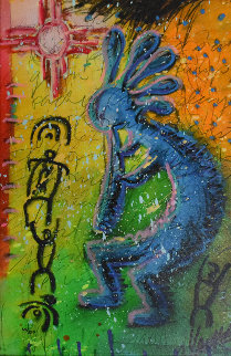 Kokopelli 2012 Embellished Limited Edition Print - Tim Yanke