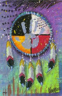 Four Directions 2014 Embellished 2014 Limited Edition Print by Tim Yanke