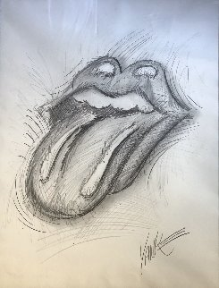 Rolling Stones 2013 Drawing 30x25 Drawing - Tim Yanke