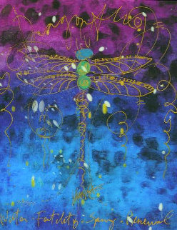 Blue Fertility 3-D 2015 Embellished Limited Edition Print by Tim Yanke