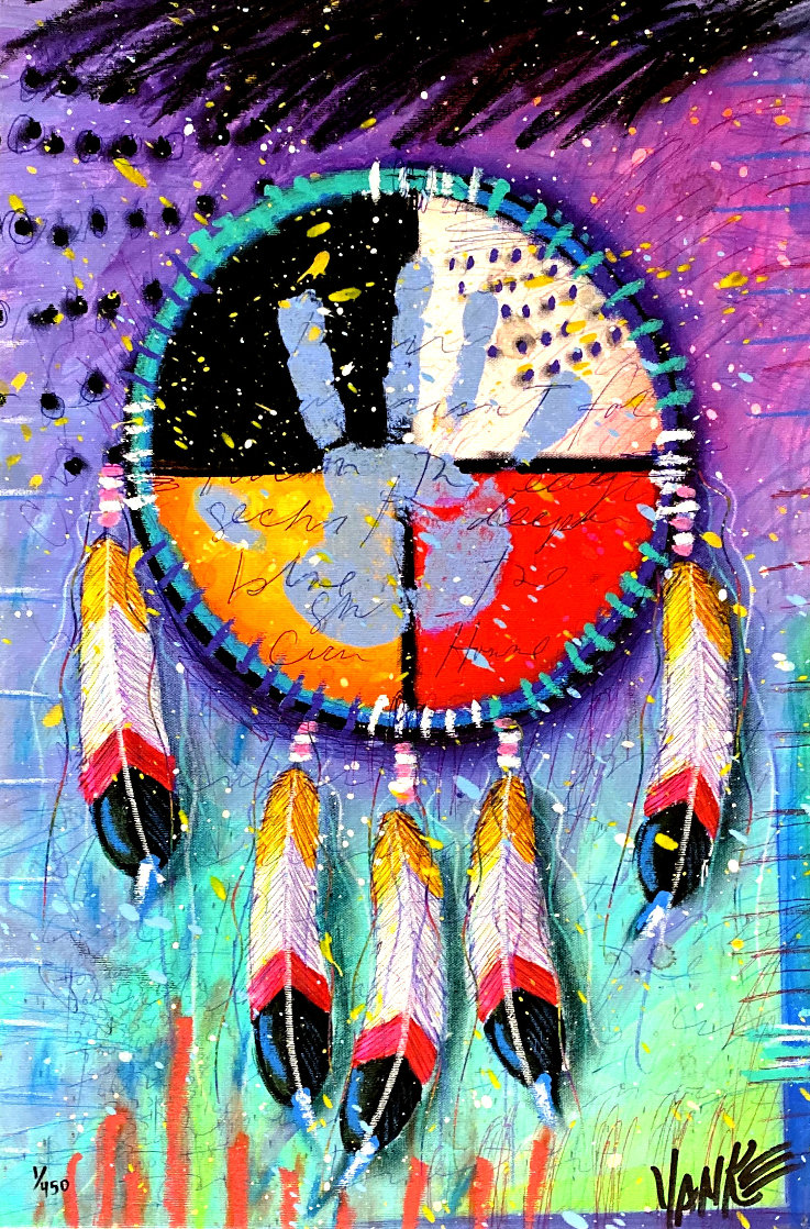 Four Directions 2014 Embellished Limited Edition Print by Tim Yanke