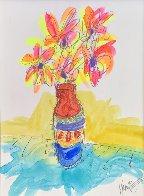 Vase Full of Grateful unique  2016 29x25 Original Painting by Tim Yanke - 0