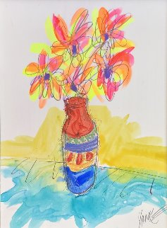 Vase Full of Grateful unique  2016 29x25 Original Painting - Tim Yanke
