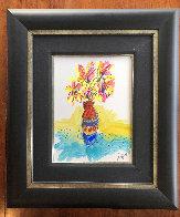 Vase Full of Grateful unique  2016 29x25 Original Painting by Tim Yanke - 1