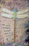 Dragonfly   2014 24x16 Original Painting - Tim Yanke