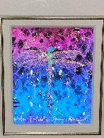 Blue Fertility Unique 2015 23x25 Works on Paper (not prints) by Tim Yanke - 4