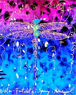 Blue Fertility Unique 2015 23x25 Works on Paper (not prints) - Tim Yanke