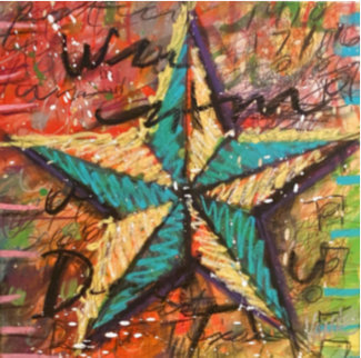 Lonestar 1 2011 Embellished 20x20 Limited Edition Print - Tim Yanke