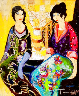 Good Friends 2012 Embellished Limited Edition Print - Tim Yanke