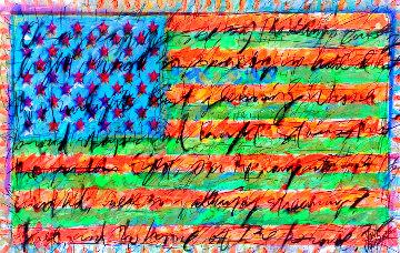 Yanke Doodle 3 2008 31x50 Original Painting - Tim Yanke