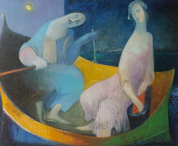 Silence of the Night 50x58 Huge Original Painting - Gevorg Yeghiazarian