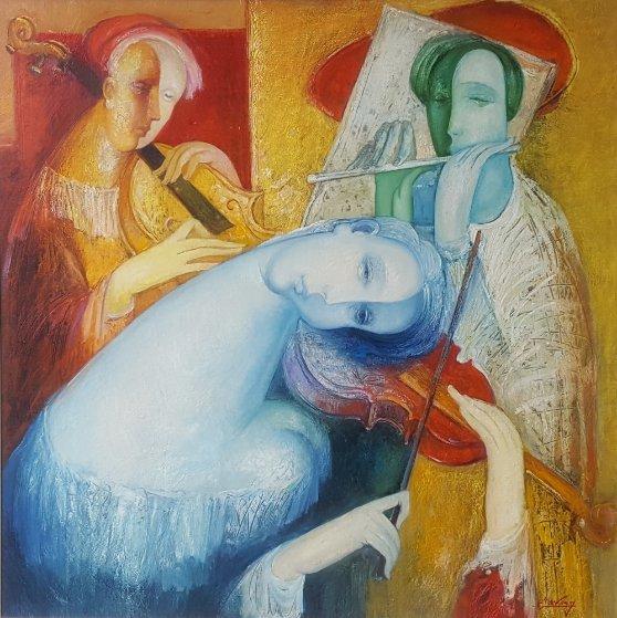 Tune of My Soul #2 50x50 Original Painting by Gevorg Yeghiazarian
