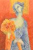Blue in Orange 2014 10x6 Original Painting by Gevorg Yeghiazarian - 0