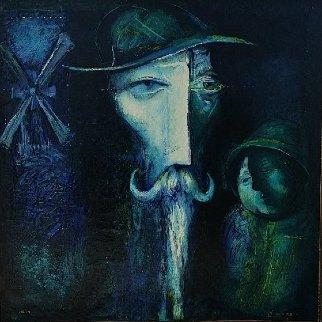 Don Quixote #1 37x37 Original Painting - Gevorg Yeghiazarian