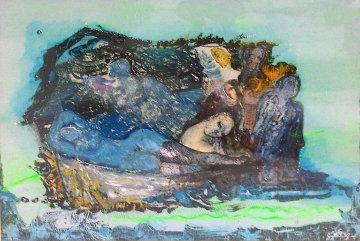 Untitled Painting 40x53 Super Huge Original Painting - Gevorg Yeghiazarian