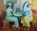 Conversation Original Painting - Gevorg Yeghiazarian