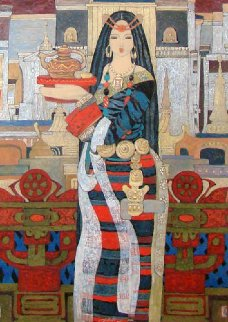 Guests From A Distance 2000 46x35 Works on Paper (not prints) - Chen Yongle