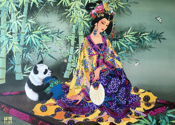 Bamboo Forest Limited Edition Print by Caroline Young