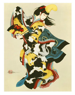 Fan Dancer Limited Edition Print by Caroline Young