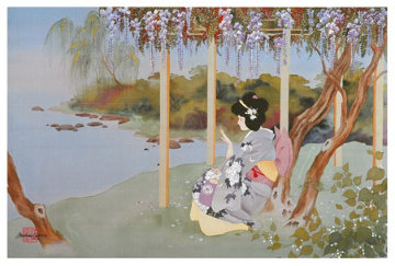 Fan Dancer and Wistful Wisteria Limited Edition Print by Caroline Young