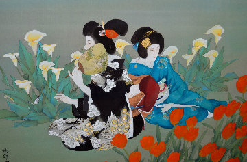 Friends 1984 36x50 Original Painting by Caroline Young