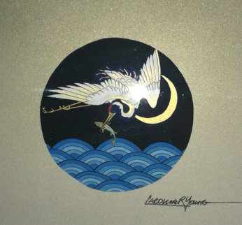 Crane 1996 Original Painting - Caroline Young