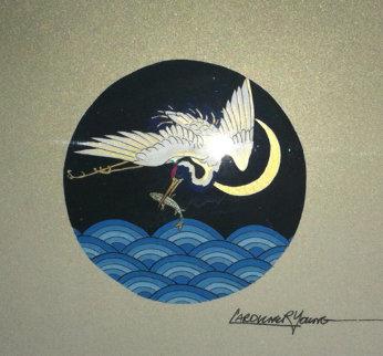 Crane 1996 Original Painting by Caroline Young