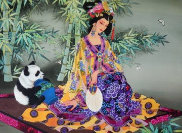 Secrets of the Bamboo Forest 2000 Limited Edition Print by Caroline Young