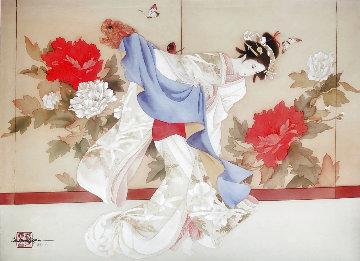 Fu Dog Dancer Limited Edition Print by Caroline Young