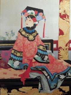 Manchurian Empress 1989 51x41 Original Painting - Caroline Young