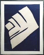 Untitled (Abstract in Dark Blue And White) 1966 (Early) Limited Edition Print by Jack Youngerman - 1