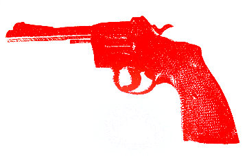 Red Revolver Unique 2008 40x55 Limited Edition Print - Russell Young
