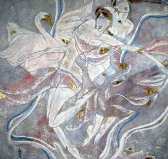 Quartet 1988 40x40 Original Painting - Yamin Young