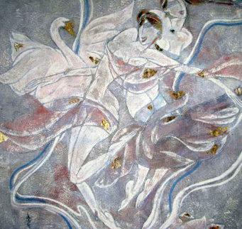 Quartet 1988 40x40 Huge Original Painting - Yamin Young