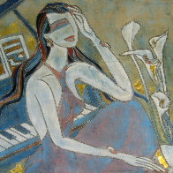 Lady in Blue 32x32 Original Painting by Yamin Young - 0