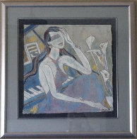 Lady in Blue 32x32 Original Painting by Yamin Young - 1