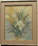 Untitled Bouquet 1986 25x20 Original Painting by Yamin Young - 1