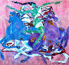 Untitled (Woman And Horses) 1988 52x52 Original Painting by Yamin Young - 0