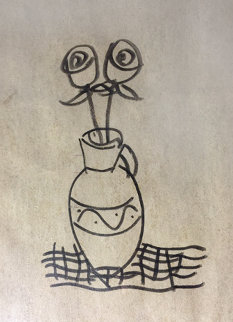 Untitled Drawing 1999 17x30 Drawing by  Yuroz