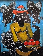 Surrounded By Inspiration 2007 20x17 Original Painting by  Yuroz - 2