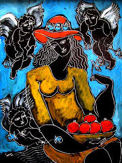 Surrounded By Inspiration 2007 20x17 Original Painting by  Yuroz