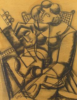 Afternoon Serenade Mixed Media 2006 29x35 Original Painting by  Yuroz